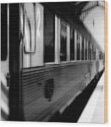 Last Train Leaving Paris Wood Print