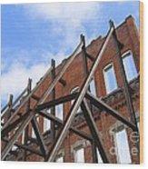 Last Wall Standing Wood Print