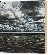 Last Winds Of Hurrican Issac  Wood Print