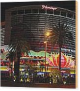 Las Vegas - The Flamingo Panoramic Wood Print