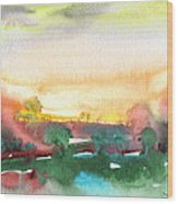 Late Afternoon 59 Wood Print