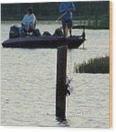 Late Afternoon At Lake Seminole Ga Bass Fishing Wood Print