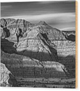 Late Afternoon In The Badlands Wood Print