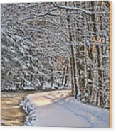 Late Afternoon In The Snow Wood Print