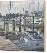Late Afternoon In Virginia Harbor Wood Print