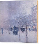 Late Afternoon - New York Winter Wood Print
