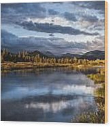 Late Afternoon On The Tuolumne River Wood Print