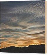 Late Afternoon Sky Wood Print
