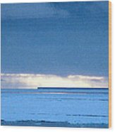 Late Afternoon Storm Antarctica Wood Print