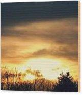 Late April Nebraska Sunset Wood Print