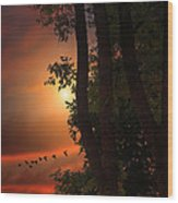 Late August Sunset Wood Print