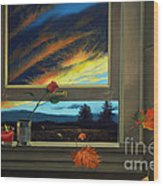 Late Autumn Breeze By Christopher Shellhammer Wood Print