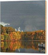 Late Autumn Storm Wood Print