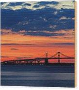 Late Evening Chesapeake Sunset Wood Print