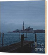 Late Evening In Venice Wood Print