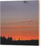 Late Evening Wood Print