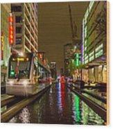 Late Night Ride On The Metrorail Wood Print