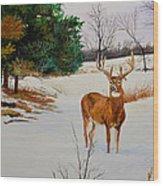 Late Season -droopy Ear Wood Print