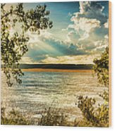 Late Summer Afternoon On The Mississippi Wood Print
