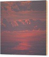 Late Summer Sunset Wood Print