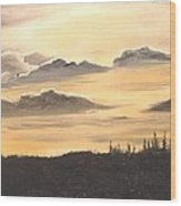 Late Sunset Wood Print