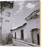 The Alleys Of Cuzco Wood Print