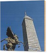 Latin American Tower And Statue Wood Print