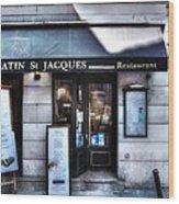 Latin St Jacques Paris France Wood Print