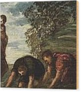 Latona Changing The Lycian Peasants Into Frogs Wood Print