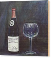 Latour Wine Buon Fresco 3 Primary Pigments Wood Print