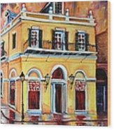 Latrobe Building On Royal Street Wood Print