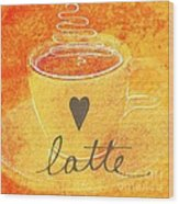 Latte Wood Print by Linda Woods