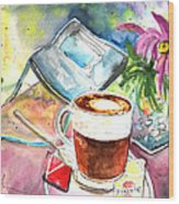 Latte Macchiato In Italy 01 Wood Print