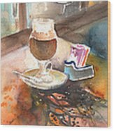 Latte Macchiato In Italy 02 Wood Print