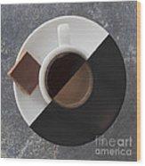 Latte Or Espresso Wood Print