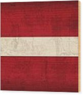 Latvia Flag Vintage Distressed Finish Wood Print