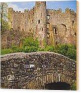 Laugharne Castle Wood Print
