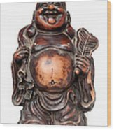 Laughing Buddha Wood Print