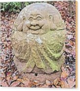 Laughing Forest Buddha Wood Print