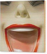 Laughter Wood Print