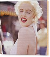 Laughter Of Marilyn Wood Print