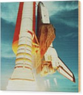 Launch Of Shuttle Challenger During Mission 51-f Wood Print