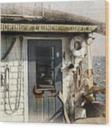 Launch Office Mcmillian Wharf Provincetown Wood Print