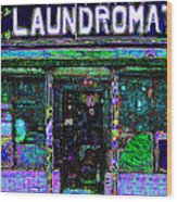 Laundromat 20130731m108 Wood Print by Wingsdomain Art and Photography