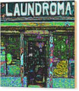 Laundromat 20130731p180 Wood Print by Wingsdomain Art and Photography