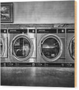 Laundromat Art Wood Print