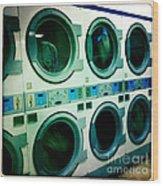 Laundromat Wood Print