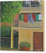 Laundry Day Wood Print
