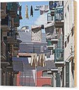Laundry Ix Color Venice Italy Wood Print