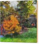 Laura Bradley Park Japanese Garden 02 Wood Print
